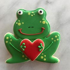 You're TOADally awesome! My favorite valentine pun this year. #sugarcookies #royalicing #albuquerque