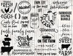 Farm svg bundle farmhouse svg bundle farm life svg farm svg | Etsy...
