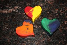 Heart Shaped Crayons for the Kids - From glitter to gumdrops
