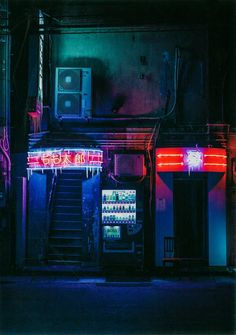 Mono no Aware: Drawn-upon Photos of Asian Metropoles by Gabriella Achadinha and Marlize Eckard Cyberpunk Aesthetic, Neon Aesthetic, Night Aesthetic, Aesthetic Black, Ville Cyberpunk, Cyberpunk City, Neon Photography, Street Photography, Landscape Photography