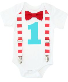 2b75bf8c0e2e Circus First Birthday Outfit Baby Boy Carnival Theme Red White Aqua – Noah's  Boytique First Birthday
