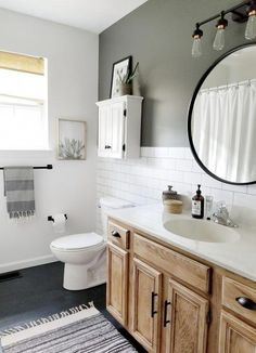 Quick and easy budget bathroom makeover. Craftsman Home Interiors, Diy Bathroom, Bathroom Interior, Bathroom Decor, Restroom Remodel, Amazing Bathrooms, Bathrooms Remodel, Bathroom Makeover, Diy Bathroom Makeover