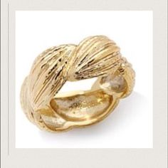 Anitanja 18 Karat gold plating cocoa pod ring Final Price Retail item Brand New! Bronze with 18k gold plating inspired by a cocoa pod from St. Lucia From the company Anitanja her jewelry is Great Quality and Beautiful. It's even more stunning in person. Anitanja Jewelry Rings
