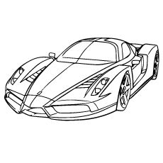Ferrari Coloring Pages Free Printable for kids. Pages to color Car Ferrari to print out. Ferrari super car coloring in sheets for boy Race Car Coloring Pages, Sports Coloring Pages, Coloring Pages To Print, Free Printable Coloring Pages, Coloring For Kids, Coloring Pages For Kids, Coloring Books, Ferrari Party, Dibujos Zentangle Art