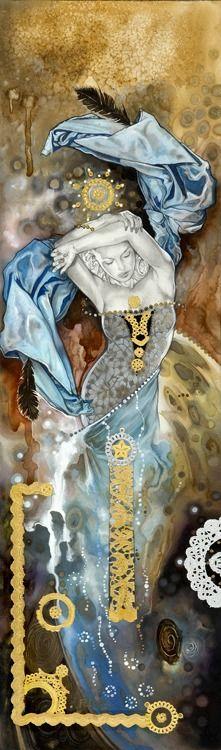 "Saatchi Online Artist: Tom Fleming; Watercolor, Painting ""IMAGINATION (mind)"""