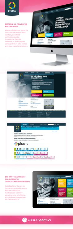 Poutapilvi uudisti Digita Oy:n verkkopalvelut vastaamaan yrityksen tarpeita ja toiveita. Lopputuloksena syntyi moderni ja helppokäyttöinen verkkopalvelu, joka ylitti asiakkaan odotukset.   #webdesign #website #graphic #uidesign #ui