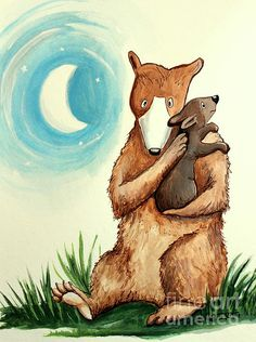 Mother And Baby Bear Lullaby by Elizabeth Robinette Tyndall