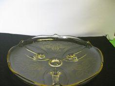 Vintage Lancaster Glass Landrum Cane Topaz by hazeleyesartglassetc $59.99