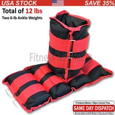 Pro Weight Adjustable Strap Heavy Ankle Weights, 12-lb pair (up to 6-lbs per ankle) Premium ✦ Durable Ankle Weights for Ab, Leg & Glute Exercises ✦ First Rate Fitness Equipment for Men & Women. Comes in pair. This 12-pound set includes two ankle weights that weigh 6 pounds each. One size fits all. Secure, velcro straps secure weights to ankle. Perfect for weight training and rehabilitation. PLEASE NOTE: the strap is adjustable and not the weights. Our price for this item is very…