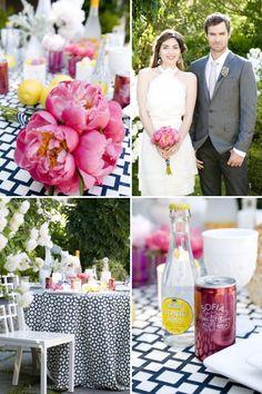 Navy + Pink Wedding