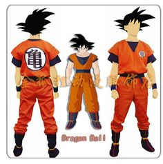 Dragon Ball Z Son Goku Kids Adult Cosplay Costume party supplies Full set $26.06 - 75.89