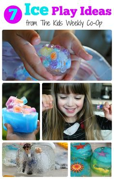 7 Ice Play Ideas from the Kids Weekly Co-Op - Cool off this summer with these icy play ideas!
