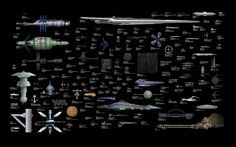Science fiction's starships sizes