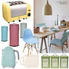 """Duck Egg Blue and other Pastel Kitchen Accessories from MyKitchenAccessories' Guide, """"What Colours Go With Duck Egg Blue?"""" #DuckEggBlueKitchen #PastelKitchen #MyKitchenAccessories"""