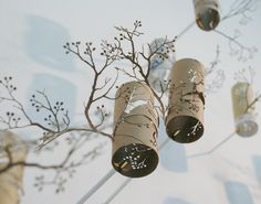 Series of beautiful paper trees made by Japanese artist Yuken Teruya out of recycled toilet paper rolls.