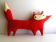 handmade plush red fox