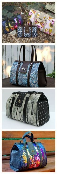 LOVE this Nora Bag sewing pattern. A modern take on the classic and traditional Doctors bag, but this innovative pattern doesn't use an expensive frame. Pattern available in 3 sizes too. One of my favorite bag patterns ever! For more Free DIY Bags and Purses, head to http://www.sewinlove.com.au/category/fashion/accessories-fashion/ #diypurse