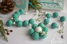 """Wristbands & Bracelets – Jewelry from Cotton Balls """"Sweet around"""" in a gift – a unique product by OlgaShestova on DaWanda"""