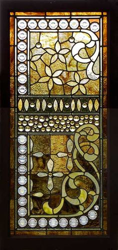 Victorian stained glass window, circa 1885-1890.