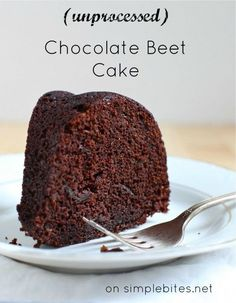 Dark Chocolate Beet Bundt Cake, naturally sweetened, unprocessed. I have used beets in baking & they add a silky smooth density and a hint of earthy flavor.
