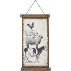 Farm Friends Wall Banner ($74) ❤ liked on Polyvore featuring home, home decor, wall art, wood wall hanging, wooden wall hanging, home wall decor, home decorators collection and wood home decor
