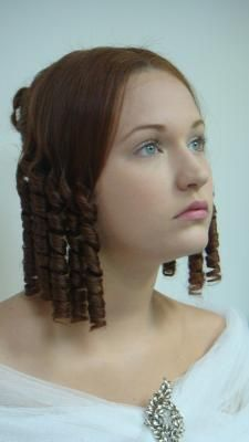 Lisa- This was one of the most popular hair dos for ladies on special occasions. half the hair is left down in what looks like a curled bob and the rest is put back in a stylish bun. 1800s Hairstyles, Civil War Hairstyles, Historical Hairstyles, Victorian Hairstyles, Popular Hairstyles, Vintage Hairstyles, Lisa, Hair Dos, My Hair