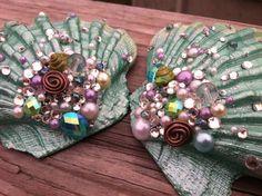 Custom Made Mermaid Seashell Bra. $35.00, via Etsy.