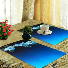 Checkout this latest Table Runners Product Name: *Stylish PVC Table Placemats ( Pack Of 6 )* Country of Origin: India Easy Returns Available In Case Of Any Issue   Catalog Rating: ★4.1 (666)  Catalog Name: Elite PVC Table Placemats Combo Vol 5 CatalogID_141374 C129-SC1127 Code: 661-1139655-342