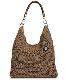 The Sak Handbag, Bennet Crochet - Handbags & Accessories - Macy's Crochet Handbags, Crochet Purses, Crochet Bags, Knitted Bags, Crochet Shell Stitch, Bead Crochet, Crochet Wallet, The Sak Handbags, Diy Tote Bag