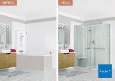 Van bad naar extra veilige XXL douche in één dag! Met de Kinemagic Serenite Plus heeft u een complete en luxe douche voorzien van alle comfort en veiligheid, die u in de douche nodig heeft.