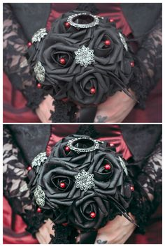 Gothic Wedding Photoshooting  Bride Bouquet made by the bride herself ❤️
