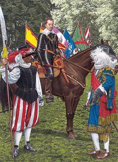 Imperial Armies - The High Command: • Bodyguard soldier  • Albrecht von Wallenstein  • General officer