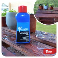 Woodoc Deep Penetrating Weatherproof Wax penetrates sealers, varnishes, waxes, and oils to feed the wood. Varnishes, Design Development, Shampoo, Wax, Personal Care, Deep, Bottle, Food, Products