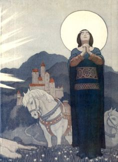 Artwork from 'Legends of Charlemagne' (1924), illustrated by N. C.Wyeth