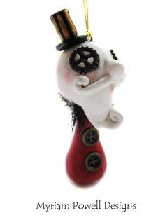 steampunk ornaments | Steampunk Santa - Santa Ornament - Steampunk Ornament - Steampunk ...