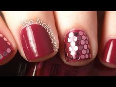 Hexagonal Glitter (Glequins) Video Tutorial - nail art