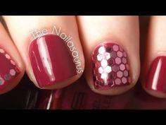 Hexagonal Glitter (Glequins) Video Tutorial - nail art