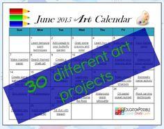 FREE 30 Day Summer Art Plan