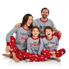 Holiday Family Pajamas Santa's List Sleep Pant and Top 2 Piece Sleepwear Set - Walmart.com