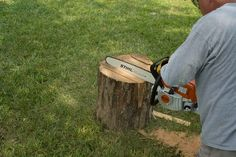 Make use of an old tree stump by turning it into a beautiful, functional cutting board in under ten steps.
