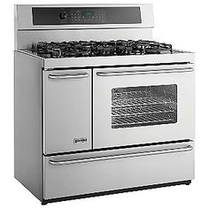 """40"""" Dual Fuel Self-Clean Range with Sealed Burners and Elec. Convection Oven 7560- Kenmore Elite"""