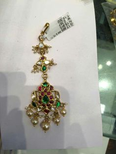 Hair & Head Jewelry 2274 Ethnic South Design Exclusive Fully Gold Tone Maang Tikka For Women Jewelry