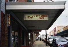 Floyd's Barber Shop in Mt. Airy, NC.