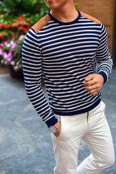NXSTYLE: STRIPED SWEATER