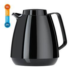 EMSA MOMENTO TEA Teekanne, Basic Schraubverschluss–Größe: 1,0 L Klassisches Design Mit hochwertigem Glas-Isolierkolben 100 % dicht Inklusive Aroma-Teesieb Passende Kaffeekanne