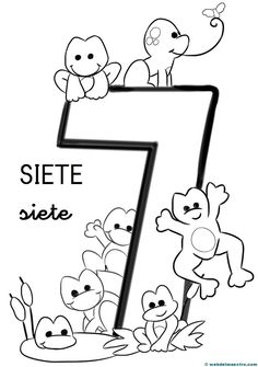 Counting For Kids, Math For Kids, Craft Activities For Kids, Math Activities, Crafts For Kids, Earth Coloring Pages, Preschool Spanish, Spanish Projects, Montessori Education