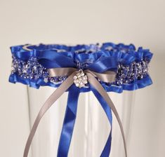 $23.00 Royal blue garter