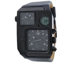 Diesel Watch Men's Black Leather Strap DZ1318