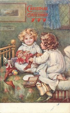 Antique Christmas card.