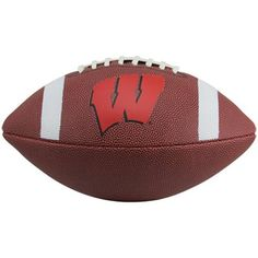 Wisconsin Badgers Official Size Composite Football #Ultimate Tailgate #Fanatics